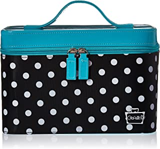 Caboodles Gilded Pleasure Nail Valet with White Polka Dots, Black, 2.36 Pound
