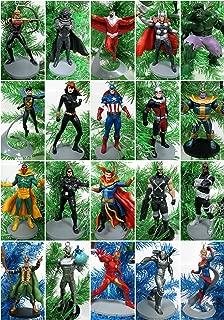 AVENGERS Complete Team 22 Piece Christmas Ornament Set Featuring Captain, Iron Man, Loki, Black Widow, Black Panther, Hawkeye, Ant-Man, Doctor Strange Special Random Avenger Vinyl Ornaments & More