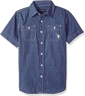 U.S. Polo Assn. Boys' Short Sleeve Woven Shirt