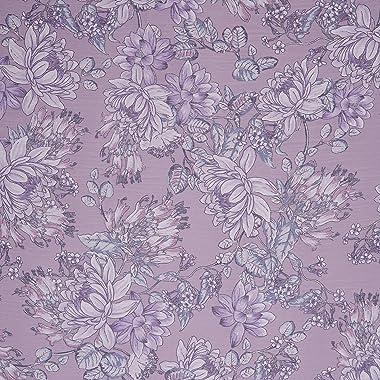 Fabtrends Yoryu Chiffon Watercolor Floral Mauve Lilac Fabric 10 Yards