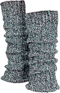 Piarini 1 Paar Grobstrick Stulpen Damen Bein - warme Winter Beinstulpen Wolle - Mehrfarbig Blau Grau Rosa One-Size