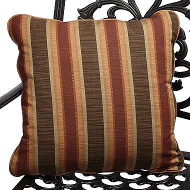 Mozaic Company Sunbrella Indoor/ Outdoor 18-inch Corded Pillow, Dimone Sequoia, Set of 2