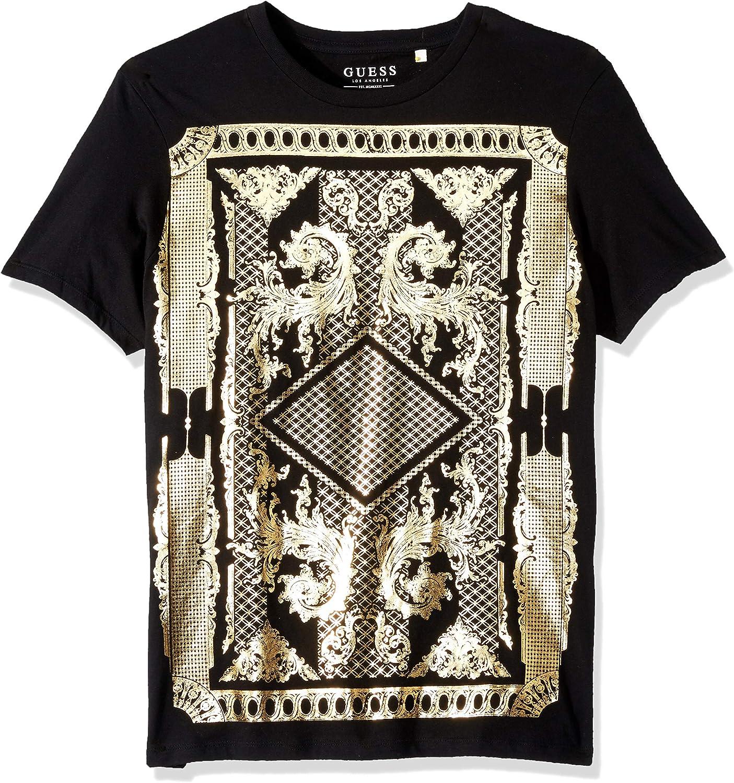 672e00745895 GUESS Mens Short Sleeve Victorian Crew Neck T-Shirt T-Shirt 3ee008 ...