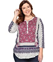 Lucky Brand - Plus Size Border Floral Henley