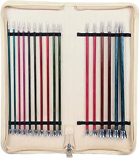 KnitPro KP29321 Nova Aiguilles Tricoter Royale Simple Extrémité, Bouleau/en Laiton, Multicolore, 25cm, 30 x 5 x 14 cm