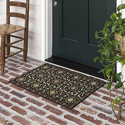 Mohawk Home 4925 18457 018030 EC Entranced Mosaic Grain Doormat, Brown