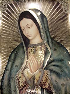 Our Lady of Guadalupe Half Body Portrait Gold Foil Engraved (16