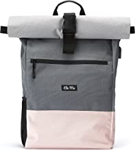 Ela Mo's Rucksack Damen   Schön und Durchdacht   für Uni Reisen Freizeit Job   mit Laptopfach & Anti Diebstahl Tasche   Rosa