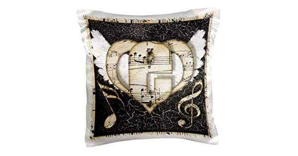 3dRose pc/_102865/_1 Song Angel Initial Letter E-Pillow Case 16 by 16