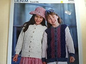 Denim Tweed DK Cardigans Sirdar Knitting Pattern 4966 Kids 20