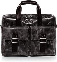 SID & VAIN Laptoptasche echt Leder Harvey   Vintage-Look   groß Businesstasche 15 Laptop Umhängetasche Aktentasche Ledertasche Herren braun