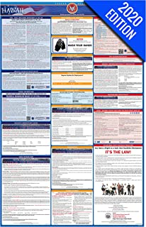 2020 Hawaii Labor Law Poster – State, Federal, OSHA Compliant – Single Laminated Poster
