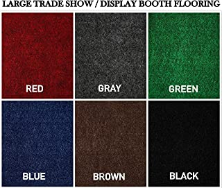 Large Custom Cut-to-Fit Trade-Show Area Rug Carpets. Custom Sizing Available to Choose from (12x20, Blue)