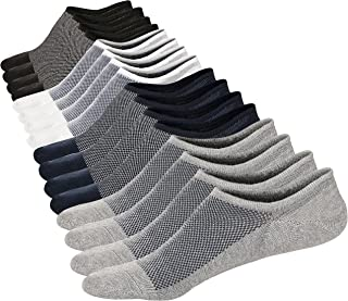 M&Z Mens Ankle Low Cut Socks Super Comfy Cotton Casual Non-Slip Socks Upgraded 8 Pairs S M L