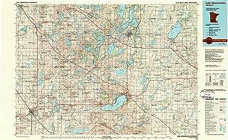 YellowMaps Lake Minnewaska MN topo map, 1:100000 Scale, 30 X 60 Minute, Historical, 1986, Updated 1990, 23.6 x 38.5 in