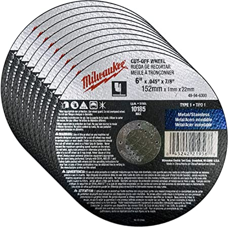 """25 Pack 6/""""x.045/""""x7//8/"""" Cut-off Wheel Metal /& Stainless Steel Cutting Discs"""