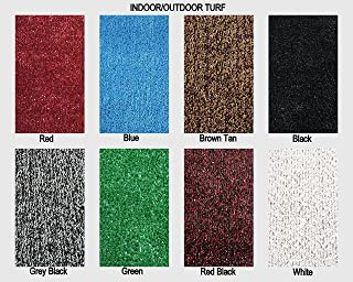 Colorful Outdoor Turf Rugs - Lightweight and Flexible for Easy Transportation. Great for Gazebos, Decks, Patios, Balconies and Much More. Many Sizes and Colors to Choose from (8' x 10', Gray Black)