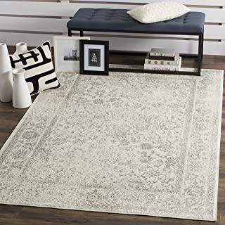 Safavieh Adirondack Collection ADR109C Ivory and Silver Oriental Vintage Distressed Area Rug (3' x 5')