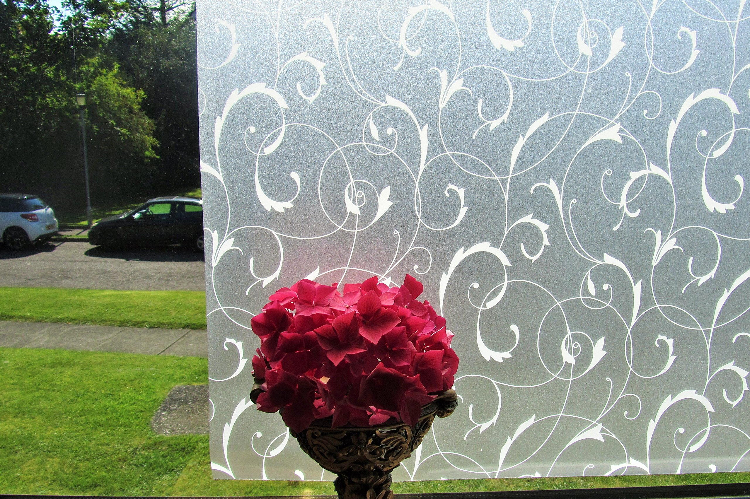 Réutilisable, décoratif statique en vinyle pour fenêtre Givré Film ...