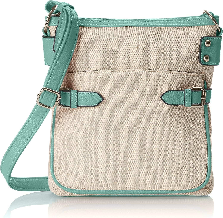 Emilie M. Gail Linen CrossBody Handbag