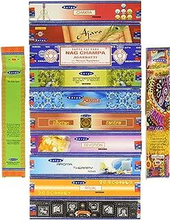 Set of 12 Nag Champa Ayurveda Chakra Aroma Therapy Devotion Ritual Tibetan Tantra Ajaro Super Hit Aastha Trisha Mantram By Satya