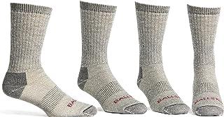 Ballston Lightweight 81% Merino Wool All Season Crew Hiking Socks - 4 Pairs for Men and Women
