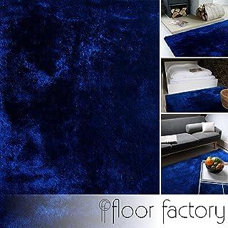 floor factory Alfombra Moderna Delight Azul Marino 80x150cm