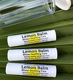 Urban ReLeaf Lemon Balm Blister Soothing Care Stick! Quickly Soothe Cold Sores Shingles Chicken Pox Rashes Spots Molluscum Bug Bites. Suppress outbreaks. 100% Natural.