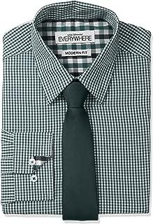 mens green shirt and tie set