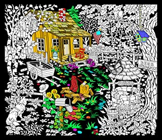 Cabin Well - 23x20 Fuzzy Velvet Detailed Coloring Poster