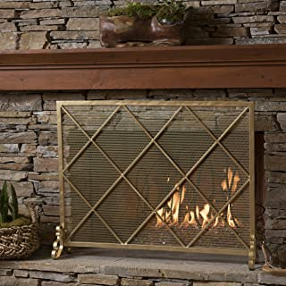 Christopher Knight Home Hayden Single Panel Gold Iron Fire Screen