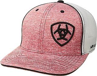 قبعة Ariat رمادية للرجال تحمل الاسم الأحمر