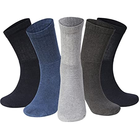 10 Pairs Men Sport Socks Size 6-11 Black Thick Cotton Cushion Crew Compression Ankle Large Pack For Under Trainer Blister Armour