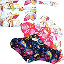 Wegreeco Super Long Nighttime Use Reusable Menstrual Pads (Pack of 3) with Free Mini Bag | Bladder Support & Incontinence Pads |Grey Charcoal Bamboo Lining (X-Large, Nighttime Use)