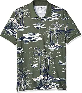 Lacoste Men's S/S All Over Printed Mini Pique Polo Regular Fit