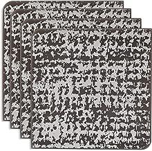 Modern-twist Coaster Notz Silicone Coasters, Grain, Silver, Set of 4
