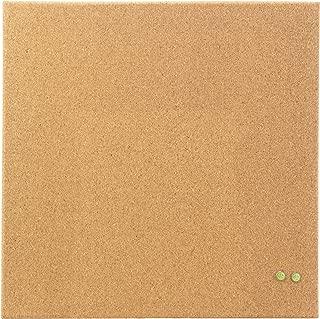 U Brands Square Frameless Cork Bulletin Board, 14 x 14 Inches, Natural (463U00-04)
