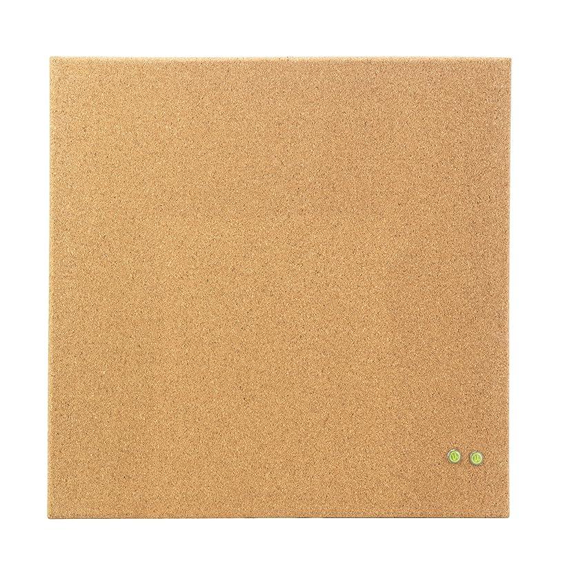 U Brands Square Frameless Cork Bulletin Board, 14 x 14 Inches, Natural