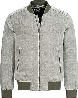 Indicode Calaway stoffen jas voor heren, van katoen en linnen, regular fit jas, herenjas, katoenen jas, linnen jas, zomerj...