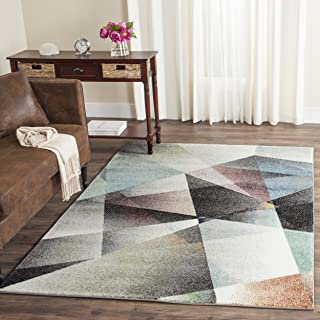 Safavieh Porcello Collection PRL6939B Modern Abstract Geometric Art Grey and Multi Area Rug (5' x 8')