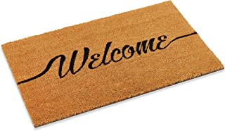 """Welcome Outdoor Front Door mat with Vinyl Backing in Two Sizes 18"""" x 30"""" and 22"""" x 47"""" (22"""" x 47"""")"""