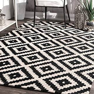 Amazon.com: black and white rug - Kitchen Rugs / Kitchen ...