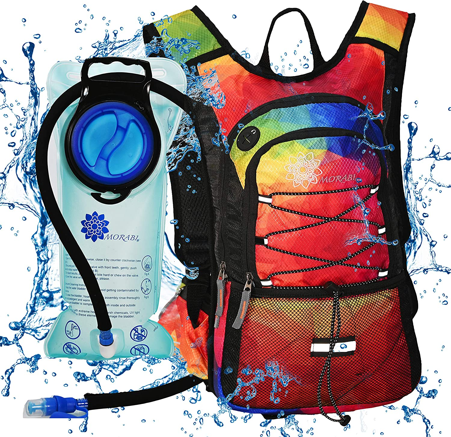 MORABI Insulated We OFFer at cheap prices Hydration Surprise price Backpack with BPA Free Water 2L Blad