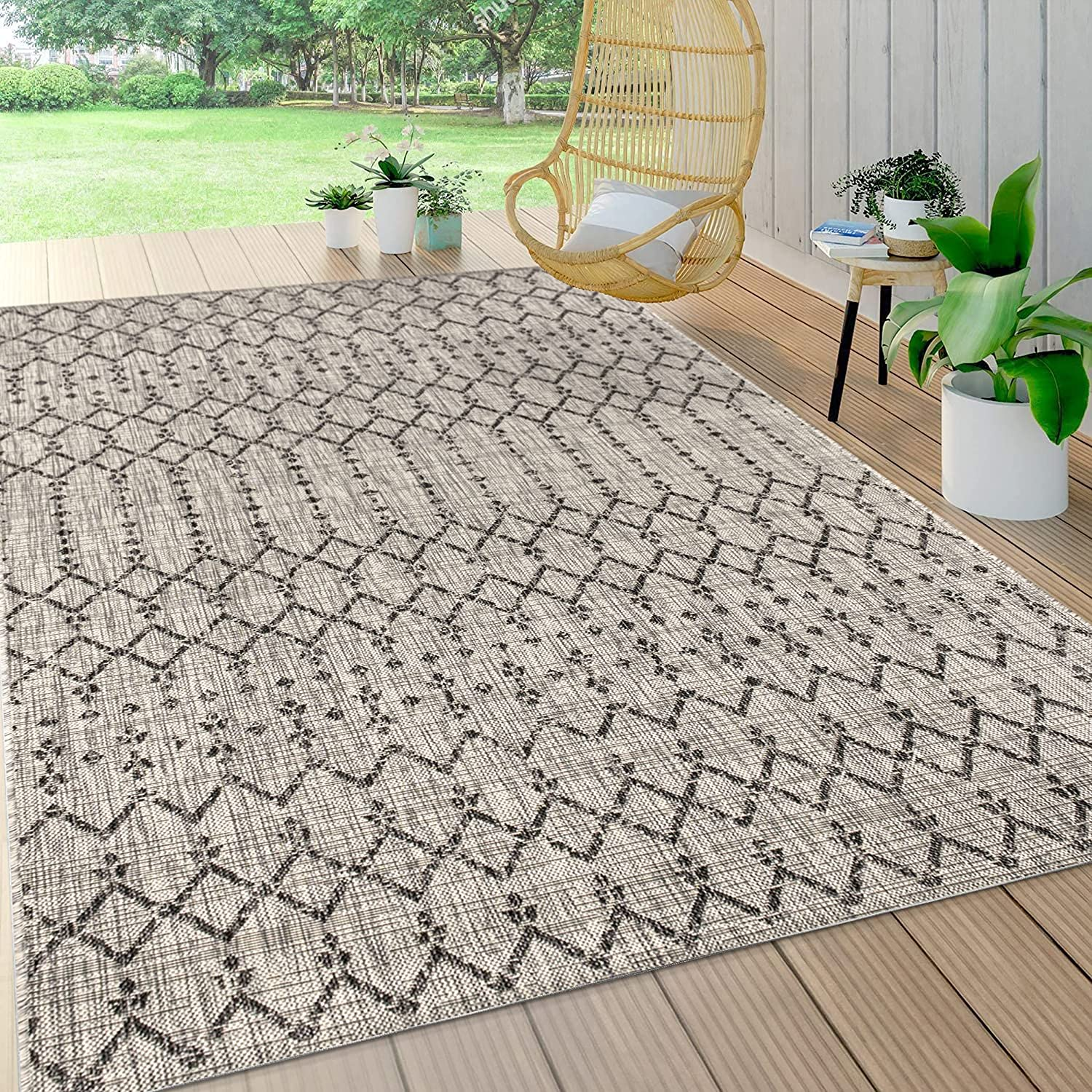 JONATHAN Y Ourika Moroccan Geometric Weave マート Textured 業界No.1 Indoor Outdo