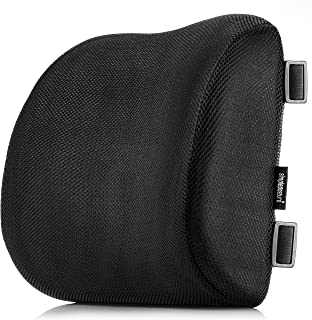 SimplePosture Lower Back Pain Cushion - Specially Designed for Maximum Lumbar Support and Back Pain Relief with Dual Extendable Straps and Anti-Skid Surface