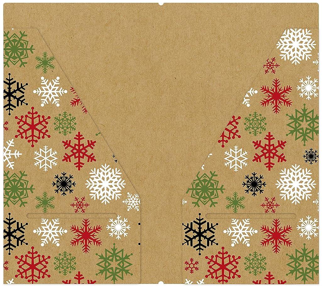 Echo Park Paper Company CCH159072 Celebrate Christmas Travelers Notebook Pocket Folder Insert Paper, Red/Green/Tan/Burlap/Black