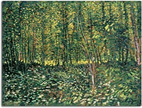 Trademark Fine Art Trees and Undergrowth, 1887 by Vincent Van Gogh, Unframed, Rolled Print, 18 by 24