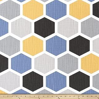 Premier Prints Hexagon Slub Canvas Brazilian Yellow