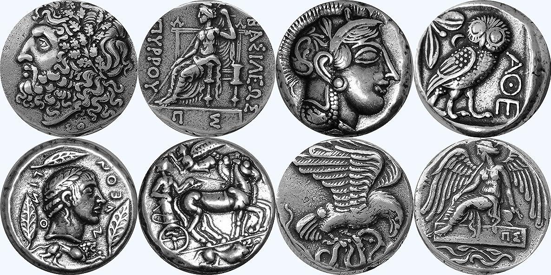 Golden Artifacts Zeus, Athena, Apollo, Nike, Collectible Coin Sets, 4 Coins, Greek Mythology (2SET-S)