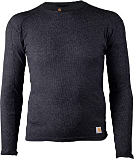 CARHARTT Men's Tall Size Base Force 100% Cotton Midweight Classic Crew, Black Heather, XXX-Large